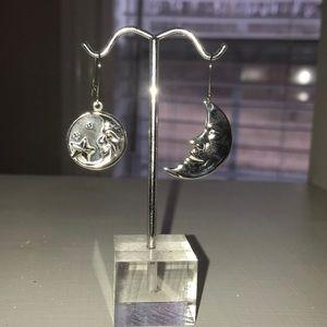 Jewelry - Man in the Moon Silver Earrings